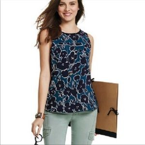 Cabi XS floral sleeveless blouse style 3087